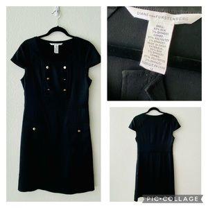 Diane Von Furstenberg Silky black dress